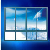 Venster van het Glas van de Ruit van pvc het Glijdende Enige/Dubbele Aangemaakte, het Goedkope Venster van pvc van de Prijs