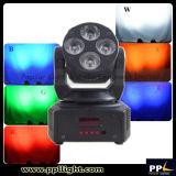 Luz móvil ULTRAVIOLETA de la colada de la etapa de la pista 6in1 mini 4X18W LED