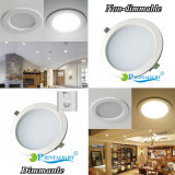 Dimmable White Silver Shell Shouing Teto lâmpada 15W LED Downlight