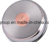 10 PCS em aço inoxidável com revestimento de cobre panelas definido