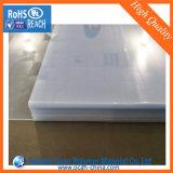 Folha transparente lustrosa elevada do PVC