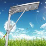 A intégré tous dans un réverbère solaire léger automatique extérieur de DEL DEL