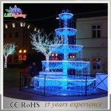 屋外のクリスマスの休日のホワイトクリスマスLED 3Dの噴水のモチーフライト