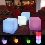 "12 ""LED Bar Chair Cube Shape Incandescente Stool"