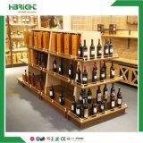 Supermarkt-hölzerner Schaukarton für Wein