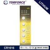 3V Non-Rechargeable Batterij van het Lithium van de Cel van de Knoop met Ce voor Stuk speelgoed (CR1616)