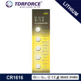 3V 장난감 (CR1616)를 위한 세륨을%s 가진 Non-Rechargeable 단추 세포 리튬 건전지