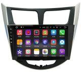 Android мультимедиа автомобильного радиоприемника 10.2inch на солярисы Verna акцента Hyundai 2011 2012 система навигации GPS 2013 автомобилей