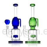 De Rokende Waterpijp van het Glas van de Stijl van de wasfles met Gekleurde Accenten (S-GB-173)