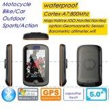 """Carro impermeável GPS Handheld da bicicleta da motocicleta 3.5 """" do toque capacitivo novo IP65 de WiFi com Wince portátil 6.0 do navegador do GPS, Cortex-A7, 800MHz processador central, jogo de Bluetooth"""
