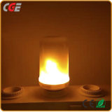 Efeito da chama de LED Lâmpadas de incêndio, Luzes criativas com lâmpadas LED de Emulação de cintilação