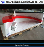 カスタマイズされた白くおよび赤いアクリルの固体表面の家具のフロント