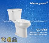 Wc di ceramica della toletta a due pezzi sanitaria degli articoli della toletta della stanza da bagno (CL-016)