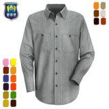 De grijze Katoenen van de Mensen van de Zakken van de Kraag van het Overhemd Zachte Overhemden van het Werk