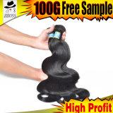 Prolonge 100% de cheveu de Vierge d'armure brésilienne de cheveu