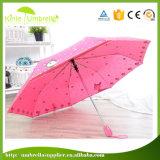 가득 차있는 인쇄 광고 우산을%s 일치 색깔 플라스틱