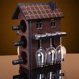 Cremagliera di visualizzazione del vino del metallo dell'onere gravoso con la scheda smontabile di marchio