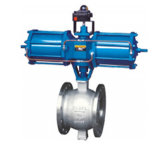 API Pneumatique O Type Ball Valve 4 '' Cl300