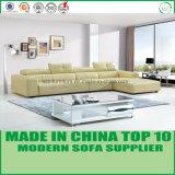 Le sofa à la maison de cuir de meubles à la mode le plus neuf avec le tabouret