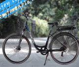 Bicyclette électrique de pivot de ville avant de moteur pour des dames