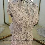 Flores de lujo atractivas de Tulle de la sirena que rebordean el vestido de noche