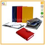 Fábrica de encargo de la impresión del cuaderno de la cubierta de la PU del color