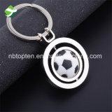 Souvenirs amovibles faits sur commande fonctionnels du football de porte-clés en métal de boucle principale de rotation