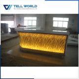 Panneau translucide avec éclairage LED comptoir de bar pour la vente commerciale