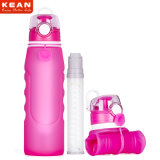 Бутылка фильтра воды силикона напольных спортов высокого качества портативная