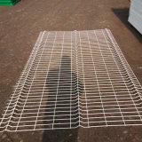 3개의 굴곡 PVC에 의하여 입히는 용접된 철망사 담