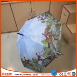 Venda a quente evento desportivo coloridos Multi-Color Golf Umbrella