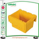 Caixa movente Nestable da modificação da caixa dos PP do plástico com tampa