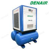 Industrial entraîné par courroie compresseur à air de type à vis d'ajouter sur le réservoir