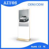Vertikaler bekanntmachender Bildschirmanzeige-Fußboden, der LCDdigital Signage steht