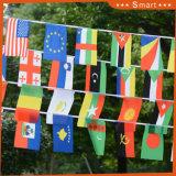Paesi caldi della tazza di mondo di vendita 32 che Bunting le bandierine della stringa