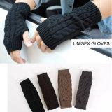 Перчатки Mitten зимы Mens женщин Unisex теплым Fingerless связанные кабелем (SF101)