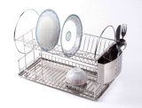 Drain d'assiette d'acier inoxydable avec le support et le drain de couverts