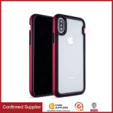 Tampa traseira do telefone in-1 desobstruído transparente Shockproof do híbrido 2 para Iphonex