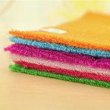 Essuie-main de lavage de Microfiber de cuisine de nettoyage de cuvette en bois d'essuie-main
