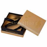 Contenitore di regalo impaccante di carta del cioccolato del contenitore di oro di lusso con il nastro