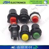 A luz do LED do interruptor de botão de pressão