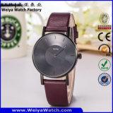 Relógio ocasional clássico da mulher de quartzo da cinta de couro da fábrica OEM/ODM (Wy-105G)