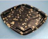 De plástico desechables ecológicas de la bandeja de sushi con tapa transparente