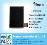 """LCD Vertoning 3.5 """" Hvga 320*480 met Interface Ili9488 RGB/MCU voor de Zwarte doos van de Auto"""