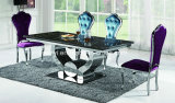 Modern Aangemaakt Glas of de Marmeren Hoogste Eettafel van het Roestvrij staal