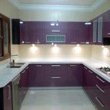 Gabinete de cozinha quente profissional da laca da venda