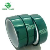 Resistente al calor de Pet Verde Cinta Verde cinta adhesiva de silicona de poliéster para recubrimiento de polvo