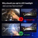 Novo Vermelho 8000lm Auto H11 Kit de Conversão de faróis LED