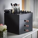 黒いベースが付いているアクリルの装飾的なオルガナイザーの表示