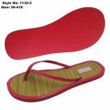 La mujer sandalias planas, EVA Dama zapatos con suela de PU en la parte superior y la paja